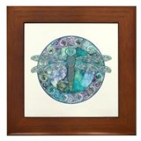 Cool Celtic Dragonfly Framed Tile