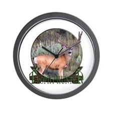 Trophy Hunter, mule deer Wall Clock