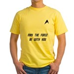 May The Force Be With You Yellow T-Shirt