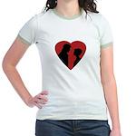 Jane Austen PP3 Lizzy & Darcy Jr. Ringer T-Shirt