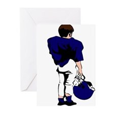 FOOTBALL *22* {blue} Greeting Cards (Pk of 20)