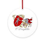 O'Loughlin Family Shield Ornament (Round)