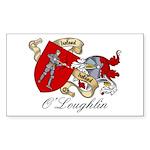 O'Loughlin Family Shield Rectangle Sticker