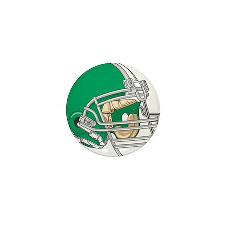 HELMET *4* {green} Mini Button (10 pack)