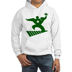 FOOTBALL *45* {green/white} Hooded Sweatshirt