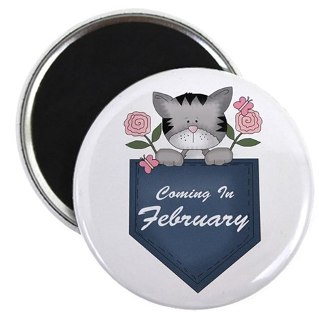 "Kitty February Pregnancy 2.25"" Magnet (10 pack)"