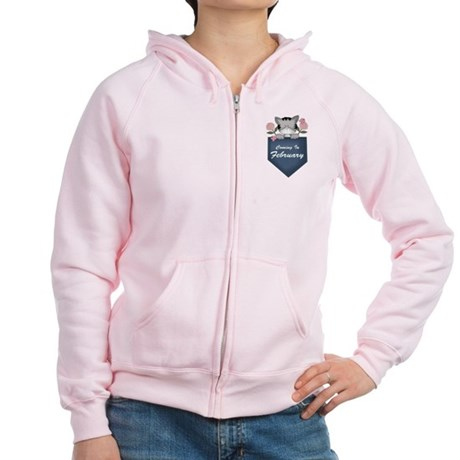 Kitty February Pregnancy Women's Zip Hoodie