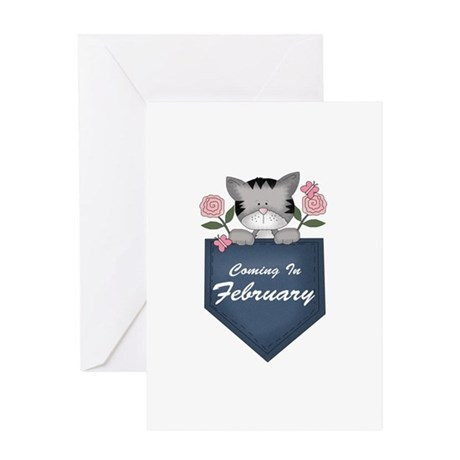 Kitty February Pregnancy Greeting Card