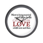 Jane Austen Crossed in Love Wall Clock
