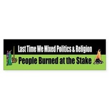 Politics and Religion Bumper Bumper Stickers