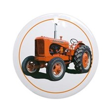 Tractor christmas Ornament (Round)