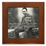 Albert Camus Philosophy Quote Framed Tile