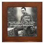 Albert Camus Philosophy Quote Framed Tile