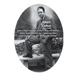 Albert Camus Philosophy Quote Oval Ornament