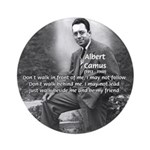 Albert Camus Philosophy Quote Ornament (Round)