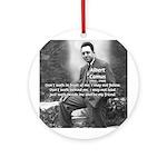 Albert Camus Philosophy Quote Ornament (Round)