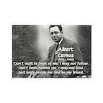 Albert Camus Philosophy Quote Rectangle Magnet
