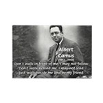 Albert Camus Philosophy Quote Rectangle Magnet (10