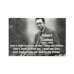 Albert Camus Philosophy Quote Rectangle Magnet (10