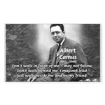 Albert Camus Philosophy Quote Sticker (Rectangular