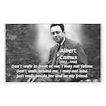 Albert Camus Philosophy Quote Sticker (Rectangular