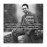 Albert Camus Philosophy Quote Tile Coaster