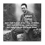 Albert Camus Philosophy Quote Tile Coaster