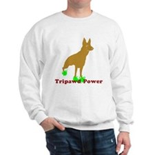 Tripawd Power Rear GSD Sweatshirt