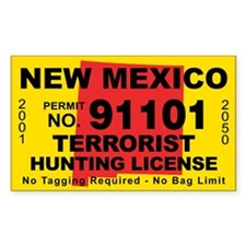 New Mexico Terrorist Hunting License Decal