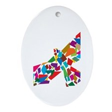 Bird in Flight Ornament (Oval)