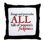 Jane Austen Songs & Proverbs Throw Pillow