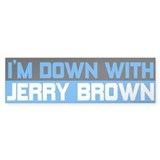 I'm Down with Jerry Brown Bumper Sticker (10 pk)