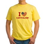 I Love Capitalism Yellow T-Shirt