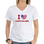 I Love Capitalism Women's V-Neck T-Shirt