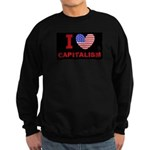I Love Capitalism Sweatshirt (dark)