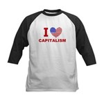 I Love Capitalism Kids Baseball Jersey