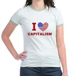 I Love Capitalism Jr. Ringer T-Shirt