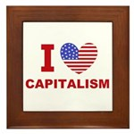 I Love Capitalism Framed Tile