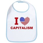 I Love Capitalism Bib