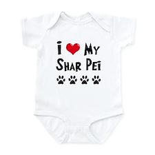 I Love My Shar Pei Infant Bodysuit