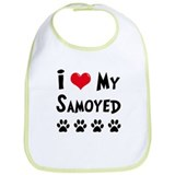 I Love My Samoyed Bib