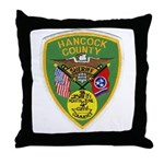 Hancock County Sheriff Throw Pillow