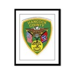 Hancock County Sheriff Framed Panel Print