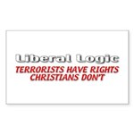 Liberal Logic Sticker (Rectangle 10 pk)