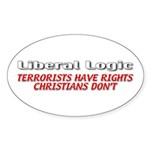 Liberal Logic Sticker (Oval 50 pk)
