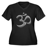 Metallic Om Women's Plus Size V-Neck Dark T-Shirt