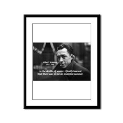 Albert Camus Motivational Framed Panel Print