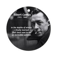 Albert Camus Motivational Ornament (Round)