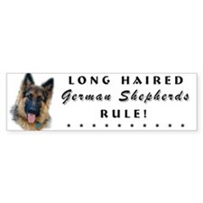 Long Haired GSD Bumper Bumper Sticker