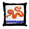 Cute Slippery Snake Throw Pillow